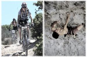Elaine Climbing and Biking